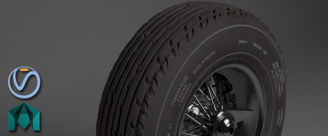 Vray : Look Development : Automotive tyre